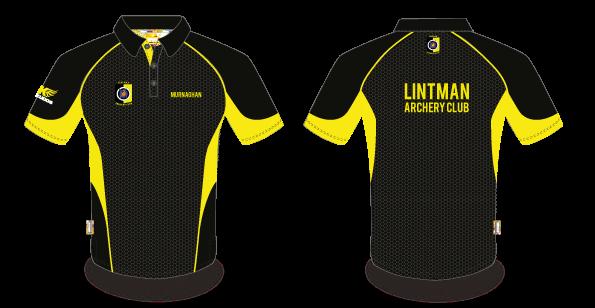 Lintman clothing order now lintman archery club for Order custom polo shirts